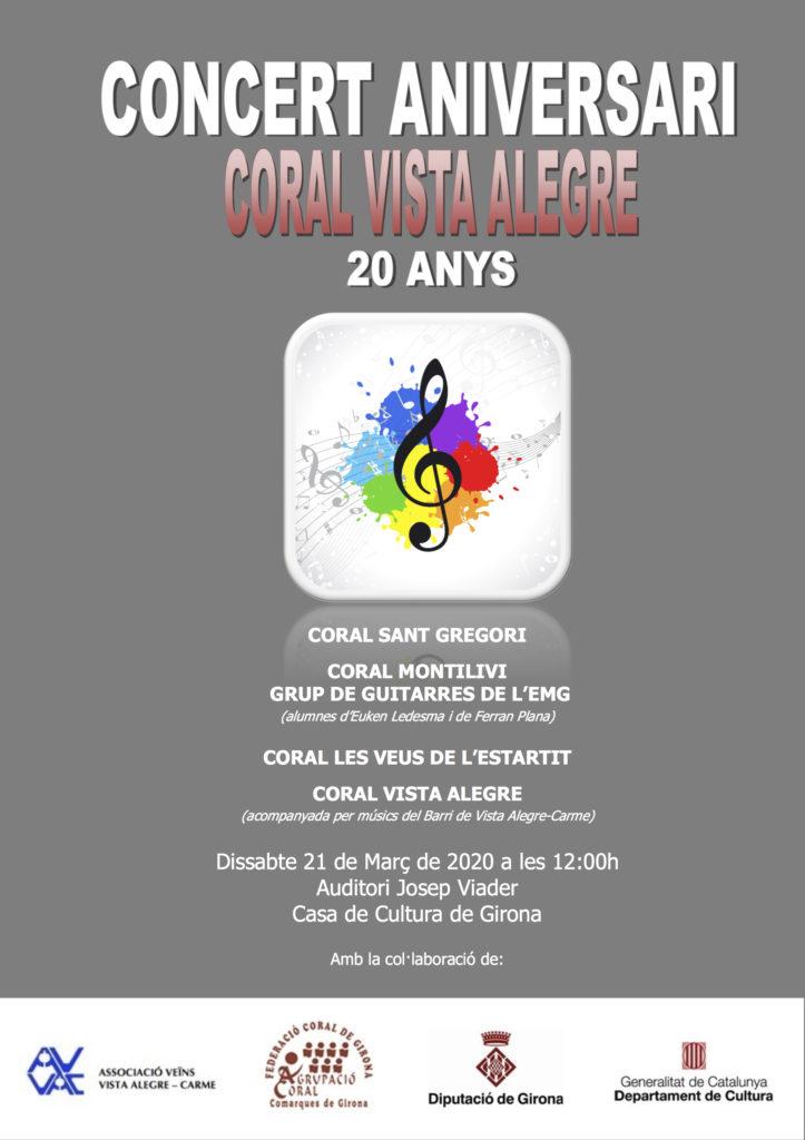 20 anys Coral Vista Alegre